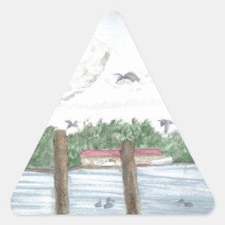 Fin de l'après-midi sticker triangulaire