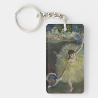 Fin d'Edgar Degas | d'un arabesque, 1877 Porte-clé Rectangulaire En Acrylique Double Face