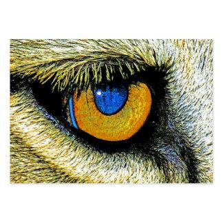 Fin d'oeil de lions vers le haut de (2) carte de visite grand format
