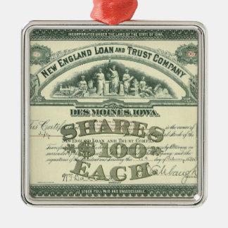 Finances vintages d'affaires de certificat de ornement carré argenté