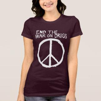 Finissez la guerre échouée sur des drogues t-shirts