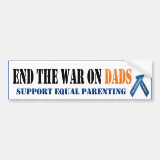 Finissez la guerre sur des papas autocollant de voiture