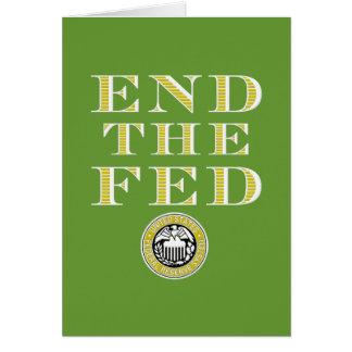 Finissez le Fed Federal Reserve Carte De Vœux