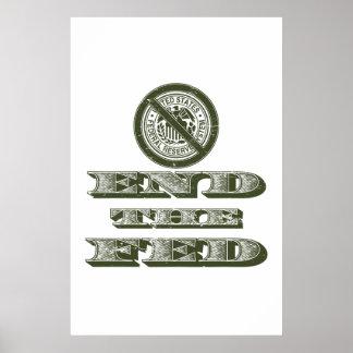 Finissez le libertaire de Fed Federal Reserve Poster