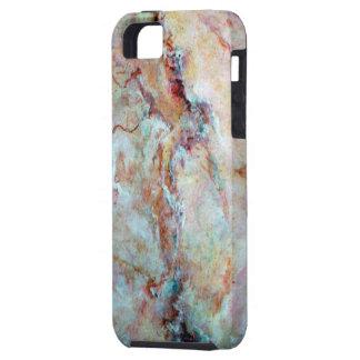 Finition rose de pierre de marbre d'arc-en-ciel coque Case-Mate iPhone 5