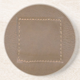 Finition simili cuir vintage d'impression : Modèle Dessous De Verres