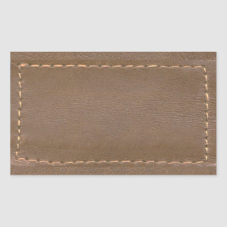 Finition simili cuir vintage d'impression : Modèle Sticker Rectangulaire