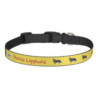 Finlandais Lapphund dog collar yellow Collier De Chien