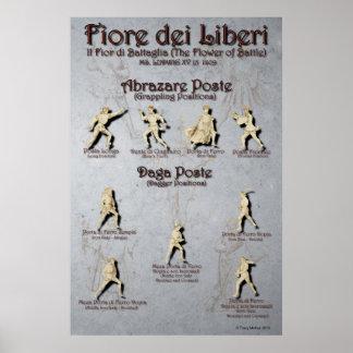 Fiore Abrazare et affiche de courrier de Daga Posters