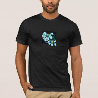 Fiore, T-shirt floral d'art pour les hommes (noir)