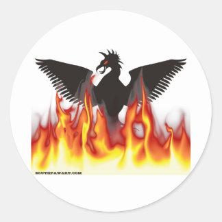 FireBird Phoenix Autocollants Ronds