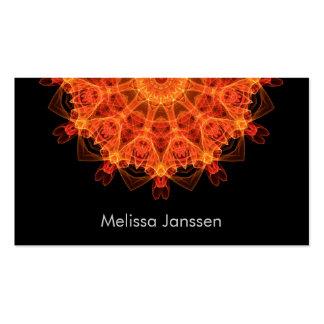 FireFlower - Mandala Cartes De Visite Personnelles