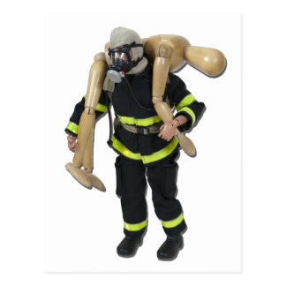 FiremanCarryPerson042911 Carte Postale