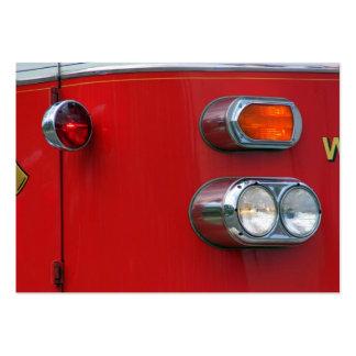 Firetruck Carte De Visite Grand Format