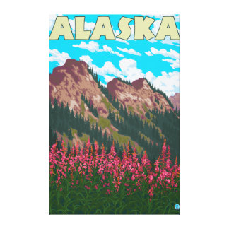 Fireweed avec l'affiche vintage de voyage de monta toiles