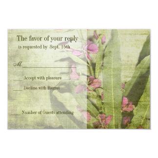 Fireweed rustique de rose de pays épousant des carton d'invitation 8,89 cm x 12,70 cm