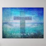Fisher de 4h19 de Matthew de vers de bible des hom Poster