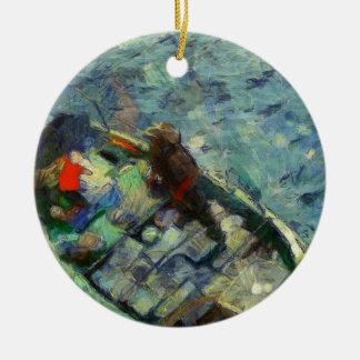 fisherman_saikung Hong Kong Ornement Rond En Céramique