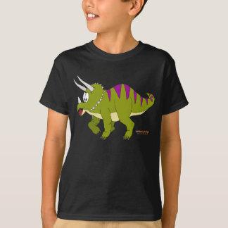 Fishfry conçoit le T-shirt foncé de Triceratops