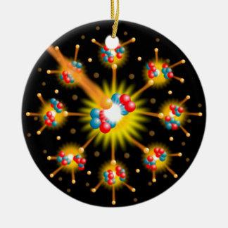 Fission nucléaire ornement rond en céramique