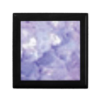 fissures en cristal petite boîte à bijoux carrée