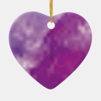fissures pourpres ornement cœur en céramique