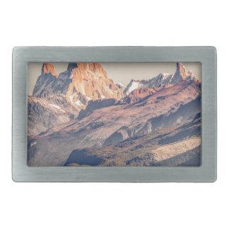 Fitz Roy et Patagonia de montagnes de Poincenot Boucle De Ceinture Rectangulaire