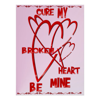 Fixez ma copie du coeur brisé affiche