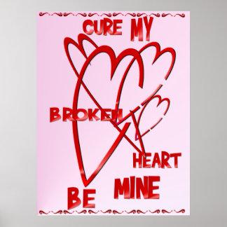 Fixez ma copie du coeur brisé poster