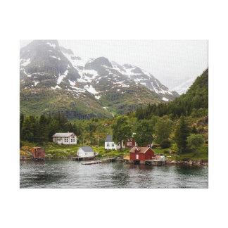 Fjord - la Norvège Toile