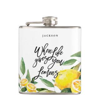 Flacon de Bohème de mariage de citron d'aquarelle