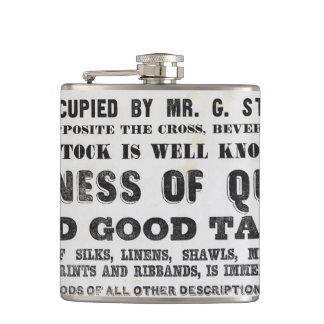 flacon de hanche de Prospectus-style de 1840s