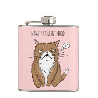 Flacon drôle de chat de Meh d'humeur actuelle
