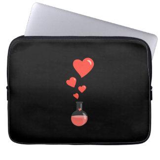 Flacon noir de la Saint-Valentin 15in de geek de Housse Ordinateur