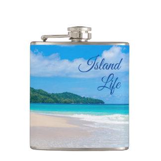 Flacon tropical de photo de plage de la belle vie