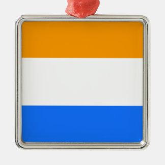 Flag de prince ornement carré argenté