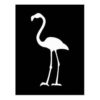 Flamant noir et blanc carte postale
