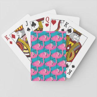Flamants au néon cartes à jouer