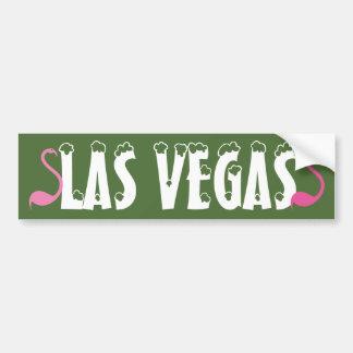 Flamants roses de Las Vegas d'amusement visuel Autocollant De Voiture