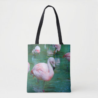 Flamants roses tote bag