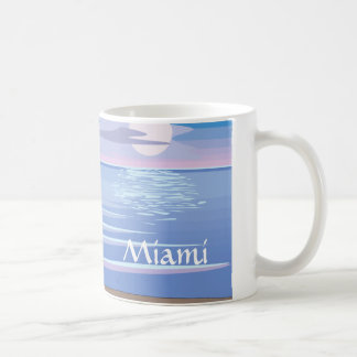 Flamants sur la plage - Miami Mug