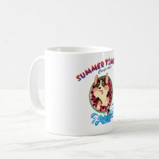 Flambe le corgi mug