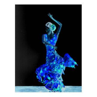 Flamenco foncé carte postale