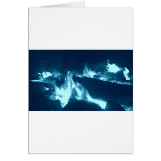 Flamme bleue carte de vœux