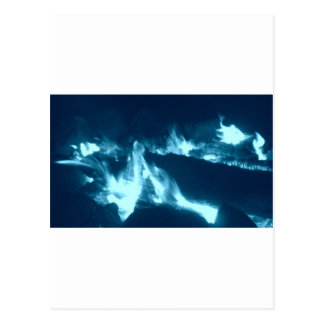 Flamme bleue carte postale