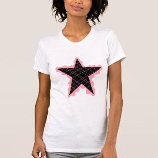 Flamme rose d'étoile t-shirt