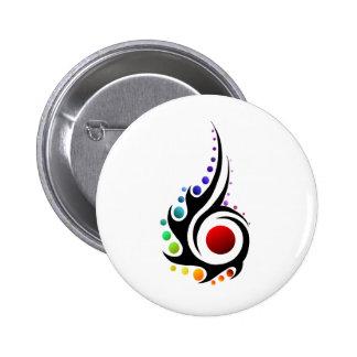 Flamme tribale badge