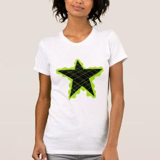 Flamme verte d'étoile t-shirt