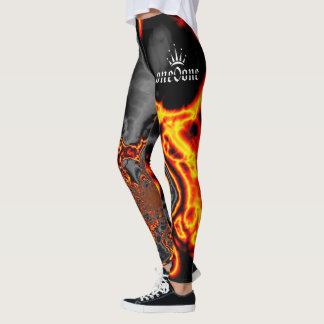 Flammes abstraites leggings