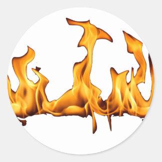 flammes adhésifs ronds